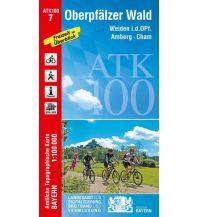 Wanderkarten Bayern Bayerische ATK100-7, Oberpfälzer Wald 1:100.000 Bayerisches Landesamt für Digitalisierung, Breitband und Vermessung