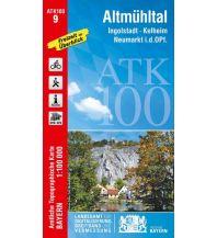Wanderkarten Bayern Bayerische ATK100-9, Altmühltal 1:100.000 Bayerisches Landesamt für Digitalisierung, Breitband und Vermessung