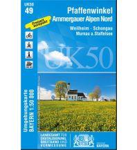 Wanderkarten Bayern UK50-49 Pfaffenwinkel, Ammergauer Alpen Nord 1:50.000 Bayerisches Landesamt für Digitalisierung, Breitband und Vermessung