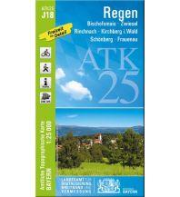 Wanderkarten Bayern Bayerische ATK25-J18, Regen 1:25.000 Bayerisches Landesamt für Digitalisierung, Breitband und Vermessung