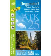 Wanderkarten Bayern Bayerische ATK25-K17, Deggendorf 1:25.000 Bayerisches Landesamt für Digitalisierung, Breitband und Vermessung