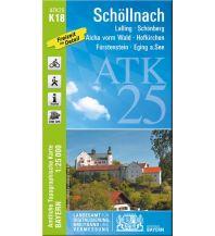 Wanderkarten Bayern ATK25-K18 Schöllnach (Amtliche Topographische Karte 1:25000) Bayerisches Landesamt für Digitalisierung, Breitband und Vermessung