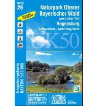 Wanderkarten Bayern UK50-26 Naturpark Oberer Bayerischer Wald, westlicher Teil 1:50.000 Bayerisches Landesamt für Digitalisierung, Breitband und Vermessung