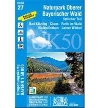 Wanderkarten Bayern UK50-27 Naturpark Oberer Bayerischer Wald, östlicher Teil Bayerisches Landesamt für Digitalisierung, Breitband und Vermessung