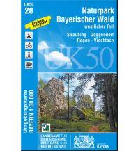 Wanderkarten Bayern UK50-28, Naturpark Bayerischer Wald - westlicher Teil 1:50.000 Bayerisches Landesamt für Digitalisierung, Breitband und Vermessung
