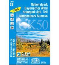 Wanderkarten Bayern Bayerische UK50-29, Nationalpark Bayerischer Wald 1:50.000 Bayerisches Landesamt für Digitalisierung, Breitband und Vermessung