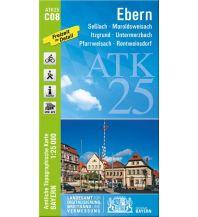 Wanderkarten Bayern Bayerische ATK25-C08, Ebern 1:25.000 Bayerisches Landesamt für Digitalisierung, Breitband und Vermessung