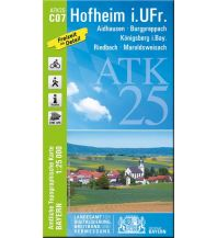 Wanderkarten Bayern Bayerische ATK25-C07, Hofheim in Unterfranken 1:25.000 Bayerisches Landesamt für Digitalisierung, Breitband und Vermessung