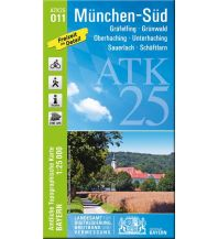 Wanderkarten Bayern Bayerische ATK25-O11, München-Süd 1:25.000 Bayerisches Landesamt für Digitalisierung, Breitband und Vermessung