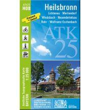 Wanderkarten Bayern ATK25-H08 Heilsbronn (Amtliche Topographische Karte 1:25000) Bayerisches Landesamt für Digitalisierung, Breitband und Vermessung