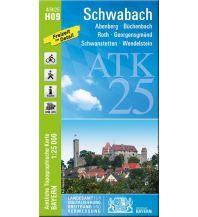Wanderkarten Bayern Bayerische ATK25-H09, Schwabach 1:25.000 Bayerisches Landesamt für Digitalisierung, Breitband und Vermessung