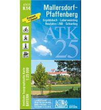 Wanderkarten Bayern ATK25-K14 Mallersdorf-Pfaffenberg (Amtliche Topographische Karte 1:25000) Bayerisches Landesamt für Digitalisierung, Breitband und Vermessung