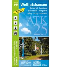 Wanderkarten Bayern Bayerische ATK25-P11, Wolfratshausen 1:25.000 Bayerisches Landesamt für Digitalisierung, Breitband und Vermessung