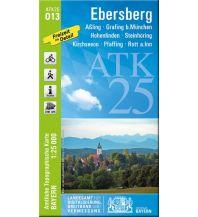 Wanderkarten Bayern Bayerische ATK25-O13, Ebersberg 1:25.000 Bayerisches Landesamt für Digitalisierung, Breitband und Vermessung
