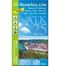 Wanderkarten Bayern Bayerische ATK25-O14, Wasserburg am Inn 1:25.000 Bayerisches Landesamt für Digitalisierung, Breitband und Vermessung