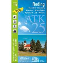 Wanderkarten Bayern Bayerische ATK25-I15, Roding 1:25.000 Bayerisches Landesamt für Digitalisierung, Breitband und Vermessung