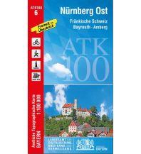 Wanderkarten Bayern Bayerische ATK100-6, Nürnberg Ost 1:100.000 Bayerisches Landesamt für Digitalisierung, Breitband und Vermessung