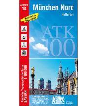 Wanderkarten Bayern Bayerische ATK100-13, München Nord 1:100.000 Bayerisches Landesamt für Digitalisierung, Breitband und Vermessung