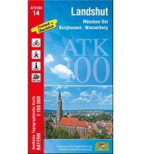 Wanderkarten Bayern Bayerische ATK100-14, Landshut 1:100.000 Bayerisches Landesamt für Digitalisierung, Breitband und Vermessung