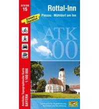 Wanderkarten Bayern ATK100-15 Rottal-Inn (Amtliche Topographische Karte 1:100000) Bayerisches Landesamt für Digitalisierung, Breitband und Vermessung