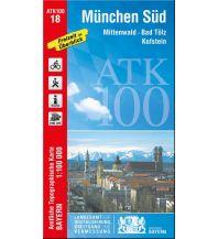 Wanderkarten Tirol Bayerische ATK100-18, München Süd 1:100.000 Bayerisches Landesamt für Digitalisierung, Breitband und Vermessung