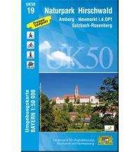 Wanderkarten Bayern UK50-19 Naturpark Hirschwald Bayerisches Landesamt für Digitalisierung, Breitband und Vermessung