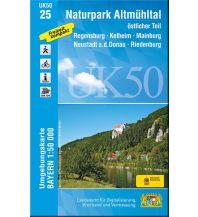 Wanderkarten Bayern UK50-25 Naturpark Altmühltal östlicher Teil 1:50.000 Bayerisches Landesamt für Digitalisierung, Breitband und Vermessung
