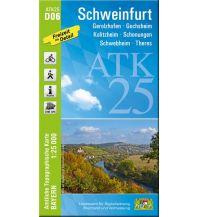 Wanderkarten Bayern Bayerische ATK25-D06, Schweinfurt 1:25.000 Bayerisches Landesamt für Digitalisierung, Breitband und Vermessung