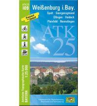Wanderkarten Bayern Bayerische ATK25-I09, Weißenburg in Bayern 1:25.000 Bayerisches Landesamt für Digitalisierung, Breitband und Vermessung
