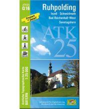 Wanderkarten Salzburg Bayerische ATK25-Q16, Ruhpolding 1:25.000 Bayerisches Landesamt für Digitalisierung, Breitband und Vermessung