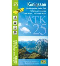 Wanderkarten Salzburg Bayerische ATK25-R17, Königssee 1:25.000 Bayerisches Landesamt für Digitalisierung, Breitband und Vermessung