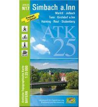 Wanderkarten Oberösterreich Bayerische ATK25-N17, Simbach am Inn 1:25.000 Bayerisches Landesamt für Digitalisierung, Breitband und Vermessung