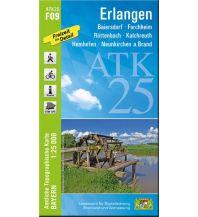 Wanderkarten Bayern Bayerische ATK25-F09, Erlangen 1:25.000 Bayerisches Landesamt für Digitalisierung, Breitband und Vermessung