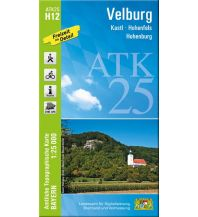 Wanderkarten Bayern Bayerische ATK25-H12, Velburg 1:25.000 Bayerisches Landesamt für Digitalisierung, Breitband und Vermessung