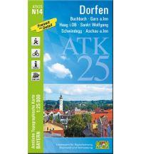 Wanderkarten Bayern Bayerische ATK25-N14, Dorfen 1:25.000 Bayerisches Landesamt für Digitalisierung, Breitband und Vermessung