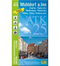Wanderkarten Bayern Bayerische ATK25-N15, Mühldorf am Inn 1:25.000 Bayerisches Landesamt für Digitalisierung, Breitband und Vermessung