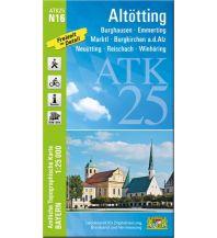 Wanderkarten Bayern Bayerische ATK25-N16, Altötting 1:25.000 Bayerisches Landesamt für Digitalisierung, Breitband und Vermessung