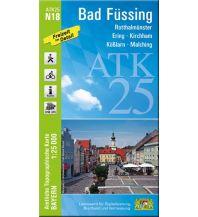 Wanderkarten Bayern ATK25-N18 Bad Füssing (Amtliche Topographische Karte 1:25000) Bayerisches Landesamt für Digitalisierung, Breitband und Vermessung