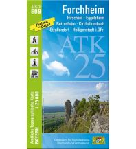 Wanderkarten Bayern Bayerische ATK25-E09, Forchheim 1:25.000 Bayerisches Landesamt für Digitalisierung, Breitband und Vermessung