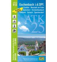 Wanderkarten Bayern Bayerische ATK25-E12, Eschenbach i.d.OPf. 1:25.000 Bayerisches Landesamt für Digitalisierung, Breitband und Vermessung
