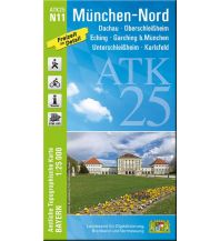 Wanderkarten Bayern Bayerische ATK25-N11, München-Nord 1:25.000 Bayerisches Landesamt für Digitalisierung, Breitband und Vermessung