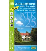Wanderkarten Bayern Bayerische ATK25-N12, Garching bei München 1:25.000 Bayerisches Landesamt für Digitalisierung, Breitband und Vermessung
