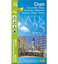 Wanderkarten Bayern Bayerische ATK25-H16, Cham 1:25.000 Bayerisches Landesamt für Digitalisierung, Breitband und Vermessung