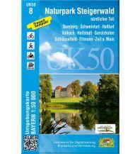 Wanderkarten Bayern UK50-8 Naturpark Steigerwald, nördlicher Teil Bayerisches Landesamt für Digitalisierung, Breitband und Vermessung