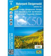 Wanderkarten Bayern UK50-9 Naturpark Steigerwald, südlicher Teil Bayerisches Landesamt für Digitalisierung, Breitband und Vermessung