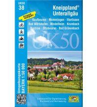 Wanderkarten Bayern UK50-38 Kneippland Unterallgäu Bayerisches Landesamt für Digitalisierung, Breitband und Vermessung