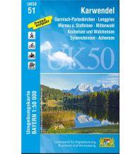 Wanderkarten Tirol UK50-51 Karwendel 1:50.000 Bayerisches Landesamt für Digitalisierung, Breitband und Vermessung