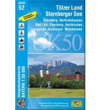 Wanderkarten Bayern UK50-52 Tölzer Land, Starnberger See Bayerisches Landesamt für Digitalisierung, Breitband und Vermessung