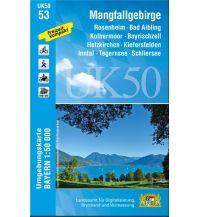 Wanderkarten Bayern UK50-53 Mangfallgebirge 1:50.000 Bayerisches Landesamt für Digitalisierung, Breitband und Vermessung