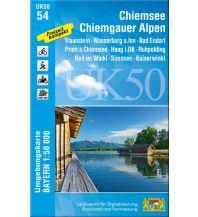 Wanderkarten Tirol UK50-54 Chiemsee, Chiemgauer Alpen 1:50.000 Bayerisches Landesamt für Digitalisierung, Breitband und Vermessung